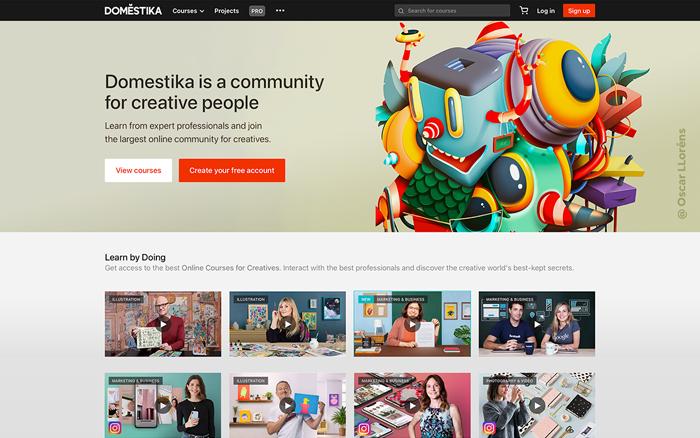 Web Homepage Domestika